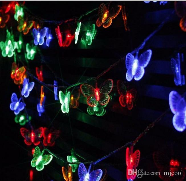 LED light string butterfly pendant 10M 100LED lamp indoor and outdoor festive lights AC110V-220V
