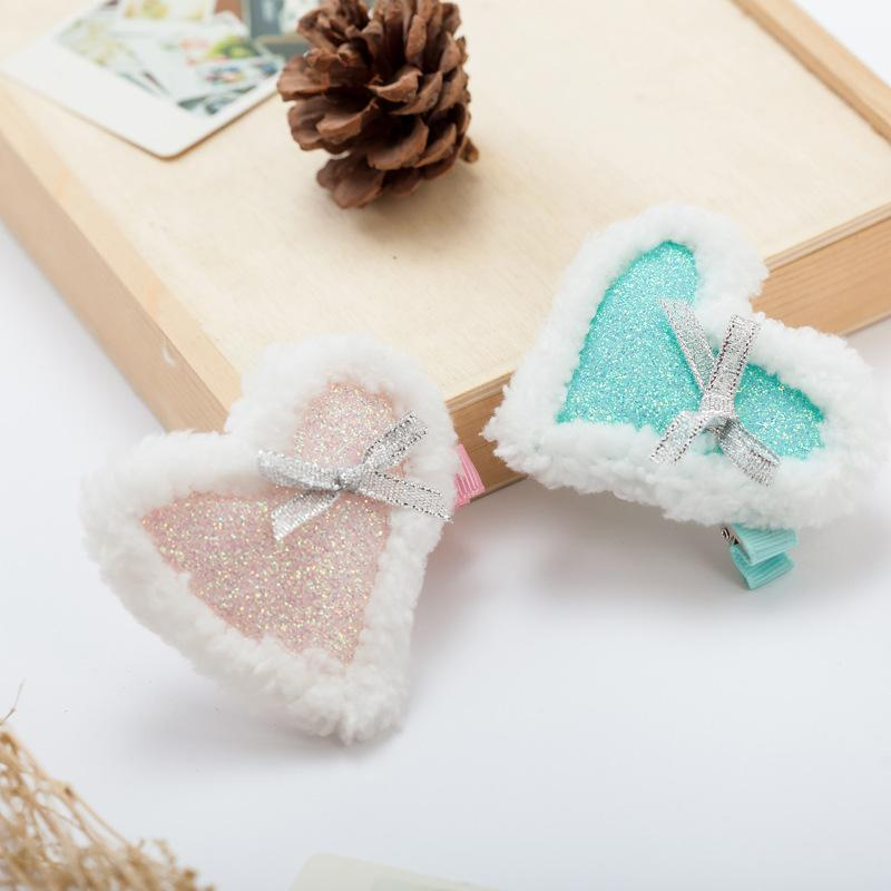 2017 Xmas Barrettes Girls Stars Crown Heart Shape Hair Clips Snowflake Around Hair Claws the Best Christmas Gift for Girls Children