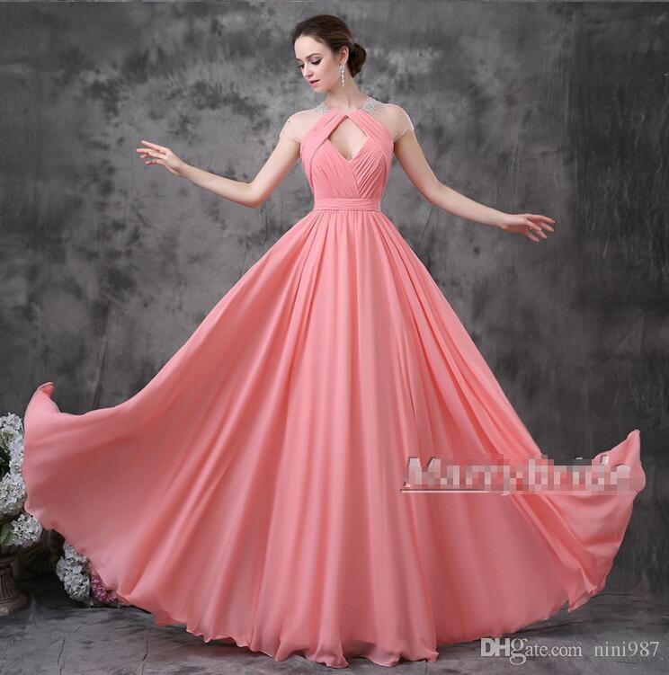 Compre Vestido De Soirea Vestidos De Noche Rosados de La Buena ...