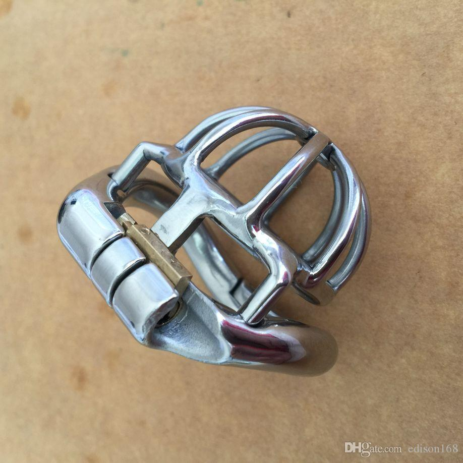 2017 Curve Snap Ring Design Male Super Small Stainless Steel Cock Cage Penis Ring Chastity Belt Device Adult BDSM Products Sex Toy S055