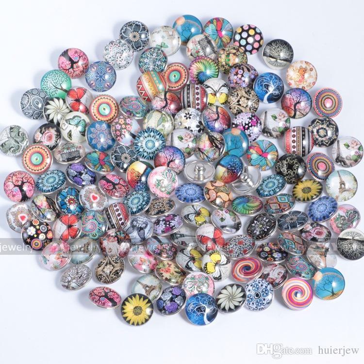 Pretty Jewelry Cheap for Snap Button Necklace 18MM Ginger Glass Rhinestone Wholesale Jewelry DIY Accesorios Para Encantos de cuero Pulseras