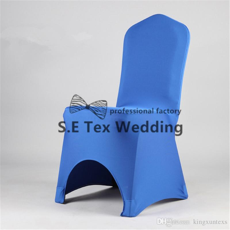 Sold Banquet Wedding Spandex Chair Cover Arch Front With Strong Chair Pocket