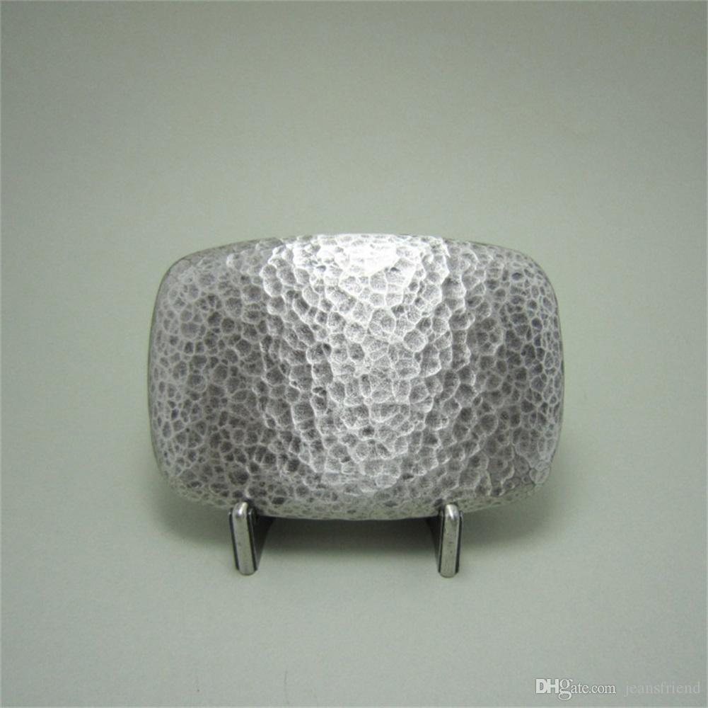 New Vintage Original Silver Plated Hammer Forged Rectangle Belt Buckle Gurtelschnalle Boucle de ceinture BUCKLE-T121SL