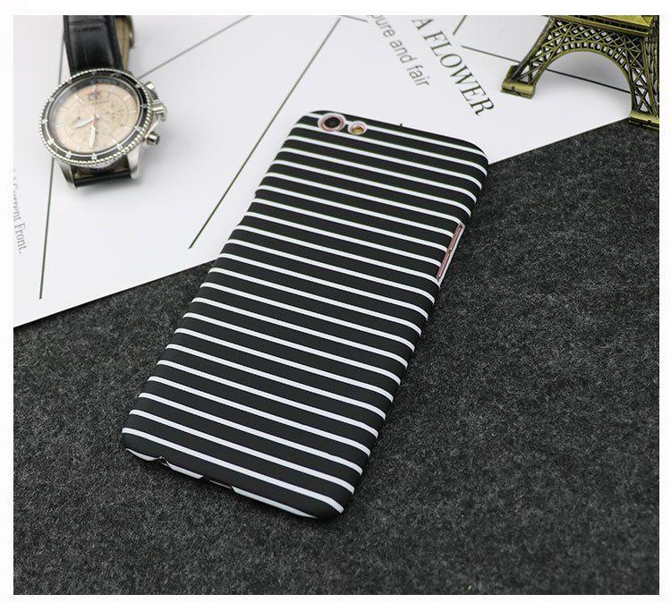 Black White Stripe Design Korea Style Fashion Mobile Phone Case For Oppo R9/R9S/Plus Wholesale OPPO R9splus Ultrathin PC Iphone6 Protector