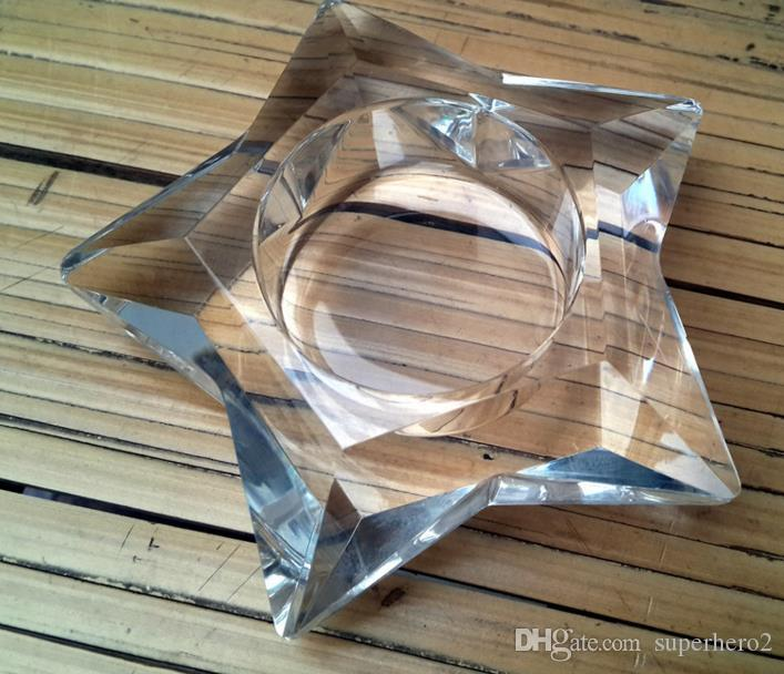 Clear Glass Star Shaped Candle Holder wedding Party Holiday DIY Decorations tealight holders Thick Glass Christmas practical favors gift