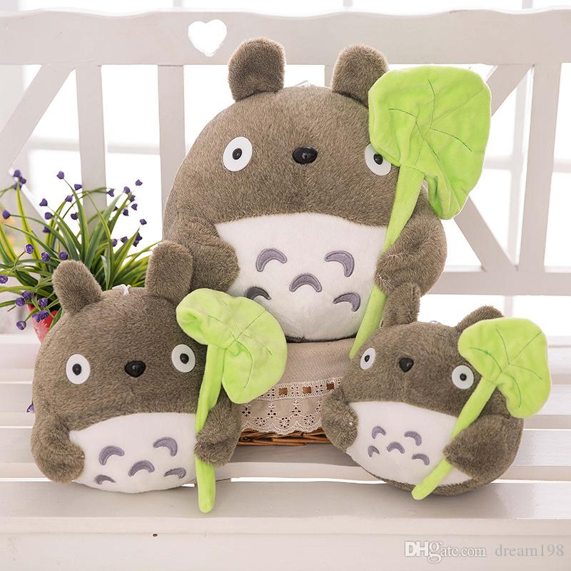 """my neighbor totoro plush toy cute soft doll totoro with lotus leaf kids toys Cat Size:8"""" 20cm /"""