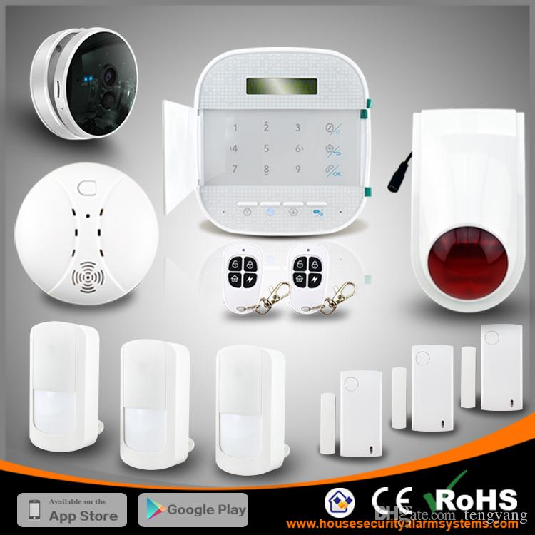 Perfect Combine WIFI GSM Dual Net Wireless Home Anti Burglar Security  Residential Alarm System With IP Camera By DHL Free