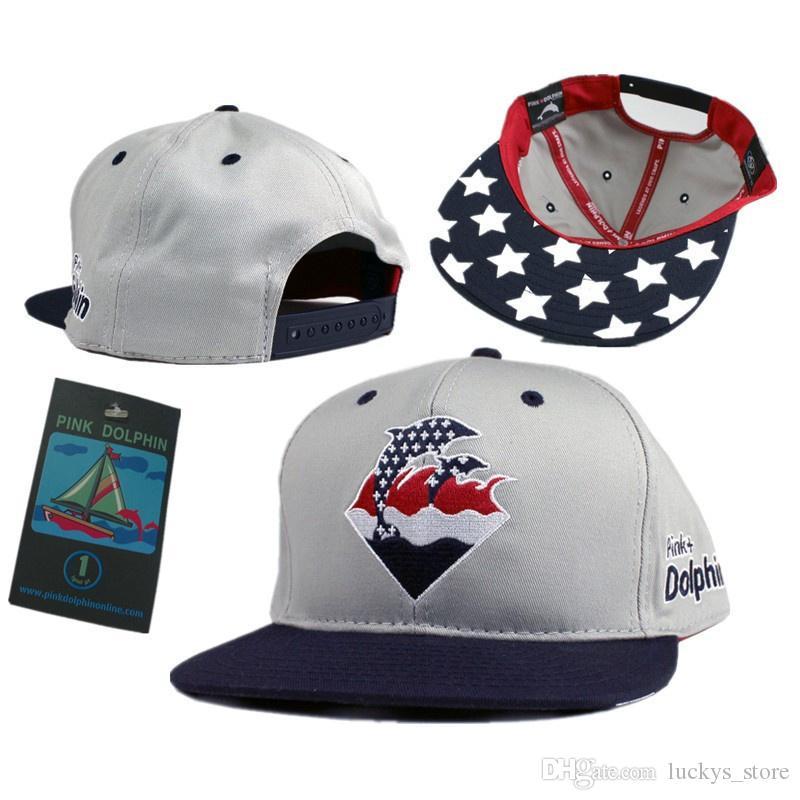 2018 ingrosso caldo di marca Snapback cappelli di alta qualità rosa delfino snapbacks cappellini economici da baseball snap back cap cappelli di moda hip hop