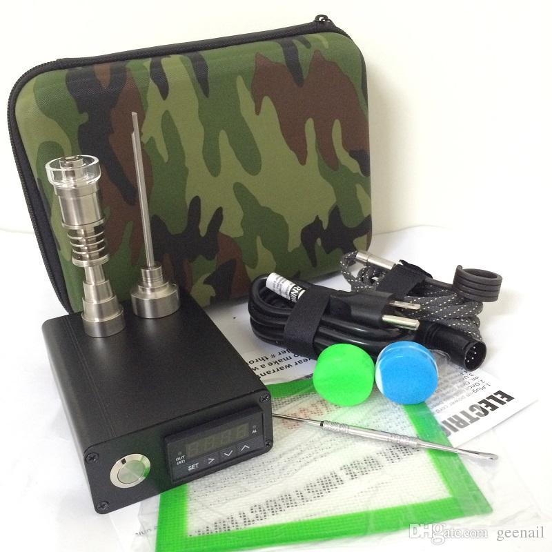 Camo portatile E chiodo al quarzo elettrico Dabber dab rig PID TC control box VS E dab NAIL quarzo Titanium 16mm 20mm riscaldatore a spirale