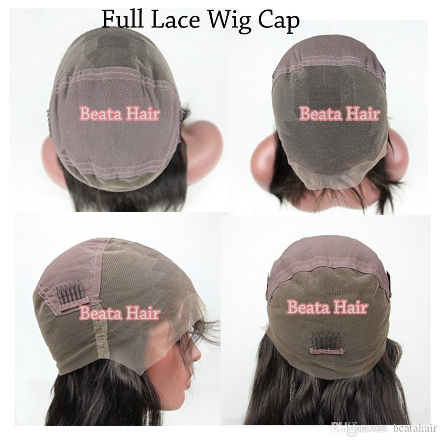 레이스 앞 가발 버진 처리되지 않은 인간의 머리카락 레이스가 발 자연 색상 중간 부분 스트레이트 풀 레이스가 발 DHL 무료 배송