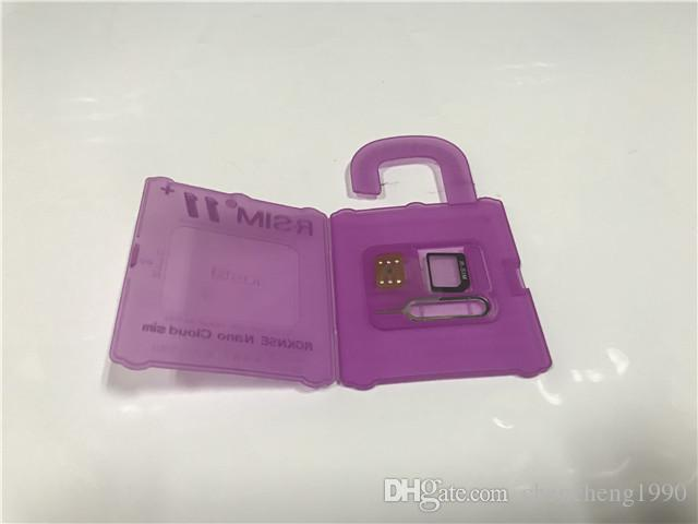 RSIM 11+ R Sim11+ r sim + Plus Unlock Card For iPhone 7 Plus 6S 6 Plus iOS 10.x-7.x 4G CDMA GSM WCDMA SB AU SPRINT DHL Free