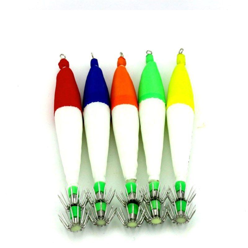 New Design Lifelike Squid Needle Fake Baits 6.3g LED Luminous Squid Jig 10.5cm Plastic Shrimp Fishing Lure with