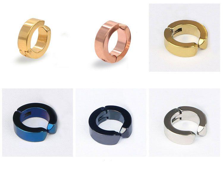 チタンステンレス鋼のイヤリング新しいファッションメンズ女性フープイヤリングボディピアスイヤースタッドジュエリー8色新ホット