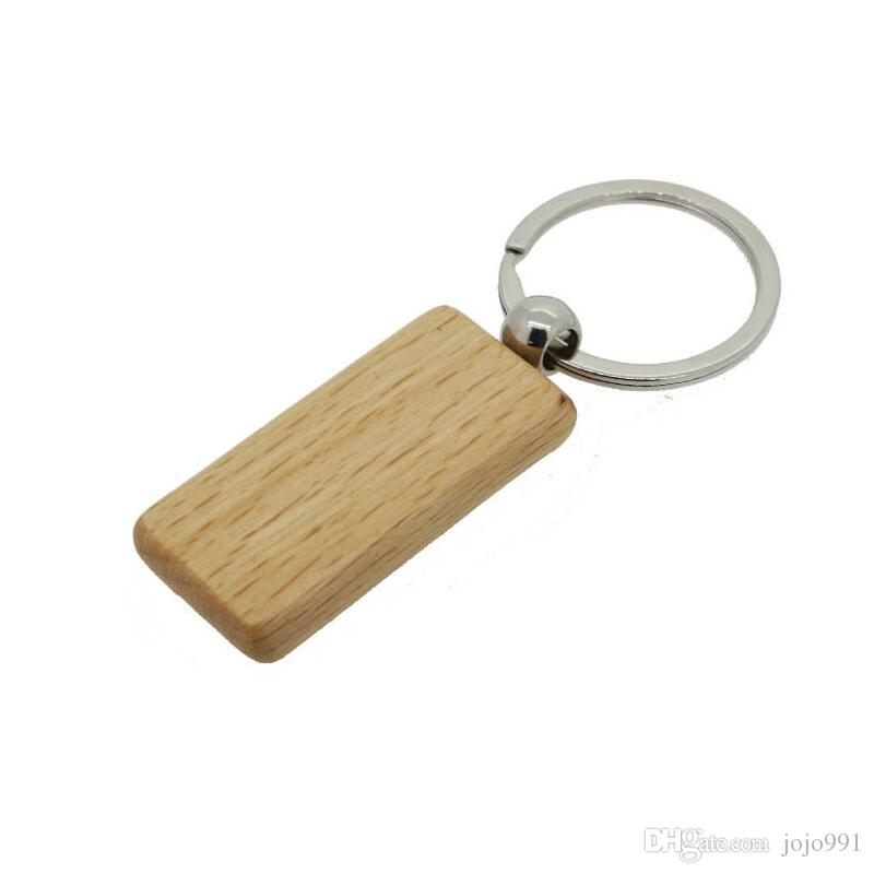 Custom Personalized Key Chain Wooden Rectangle Key