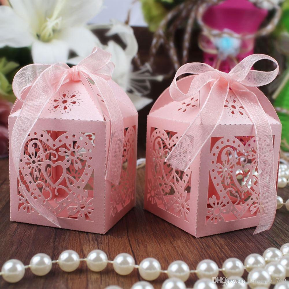 Wholesale Gift Bags Wedding Candy Box Heart Laser Cut Gift Candy ...