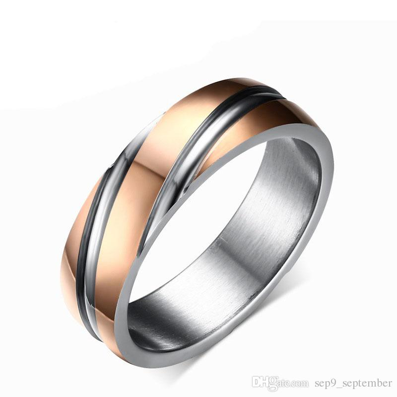 colorful wedding gold white bands band for and ring men rose mens tungsten
