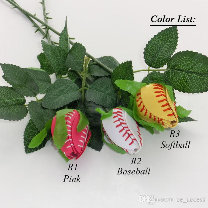 2017 Softball Rosen - Softball-Rosen-Bouquet-Fastpitch-Graduierung-Senioren-Softball Geschenke-Fastpitch Softball