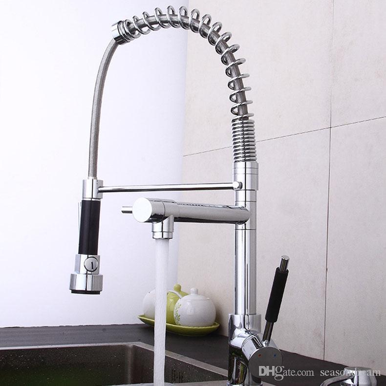 kitchen sink water taps 2018 kitchen water tap dual holder shower pull out 6031