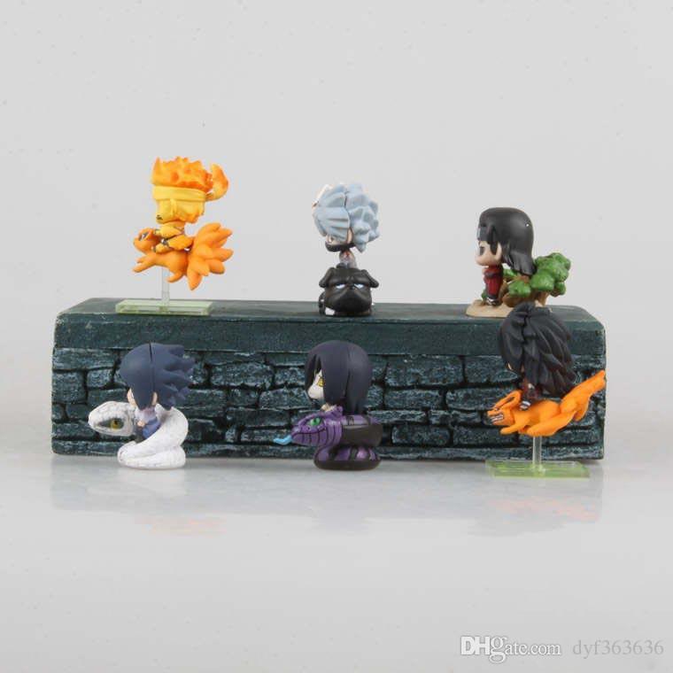 Funko Pop Naruto Sasuke Uzumaki Kakashi Gaara Action With Mounts Figures Japan Anime Collections Gifts Toys