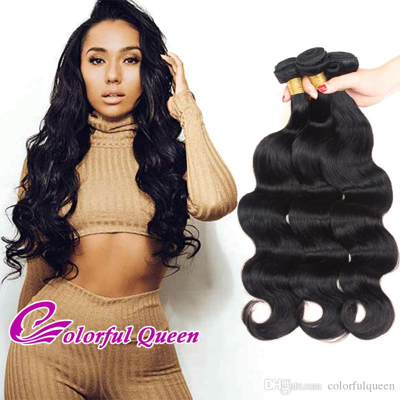Raw Indian Virgin Hair Body Wave Weave Bundles Unprocessed Indian Hair 3 Bundles 300g Cheap Human Hair Extension Can be Dyed or Bleached