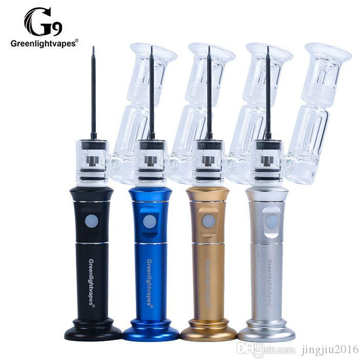 Henail BHO oil wax pen electronic vaporizer dabber from GreenLightVapes g9 h enail quartz nail 2500mAh battery concentrate atomizer on sale