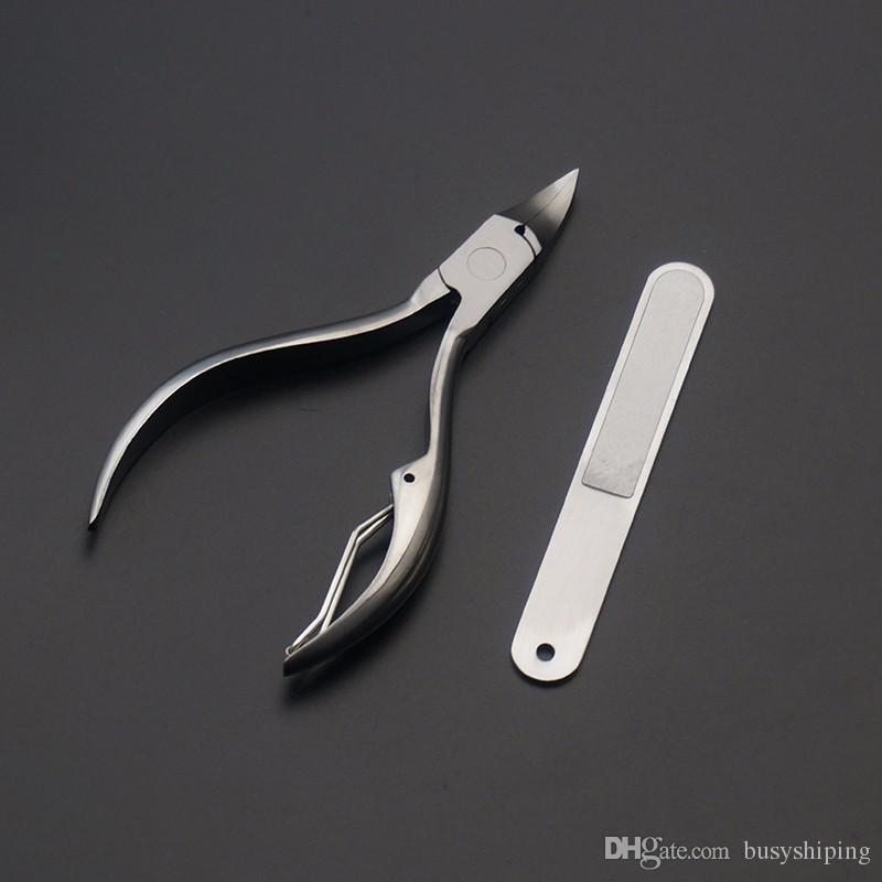 Stainless Steel Toe Nail Cutter Nipper Clipper Ingrowing Pedicure Care Nail Clipper Ingrown Toenail Cuticle Remover Nail Tools