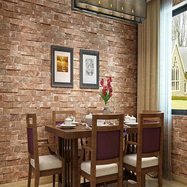 Wholesale D Brick Wallpaper Modern Vintage Brick Stone Pattern - 3d brick wallpaper living room