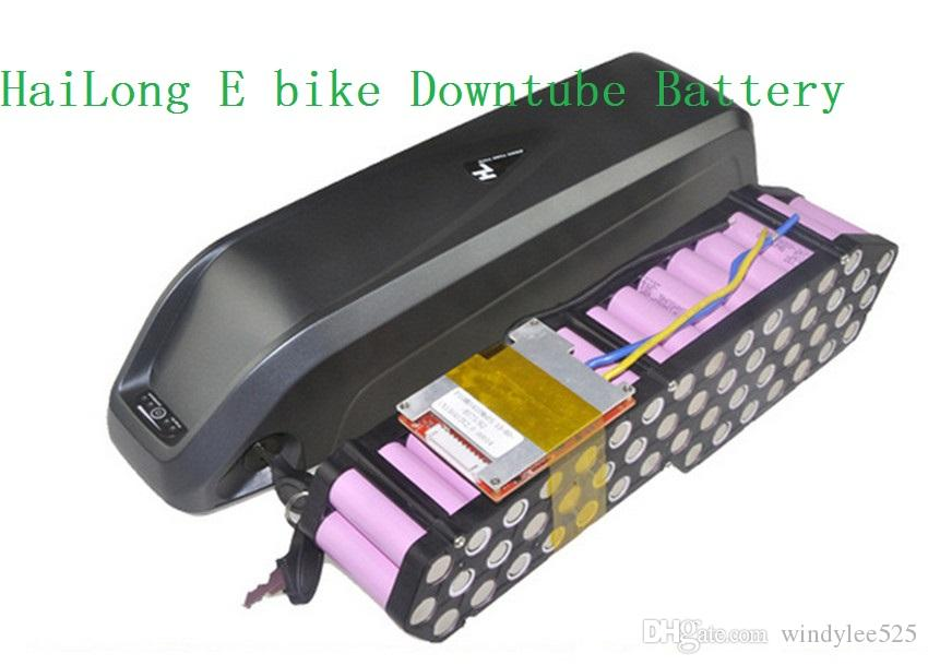 Wholesale 48V 15AH Hailong Electric bicycle battery ebike battery for 48V 1000W Bafang Hailong with rack holder with 54.6V charger