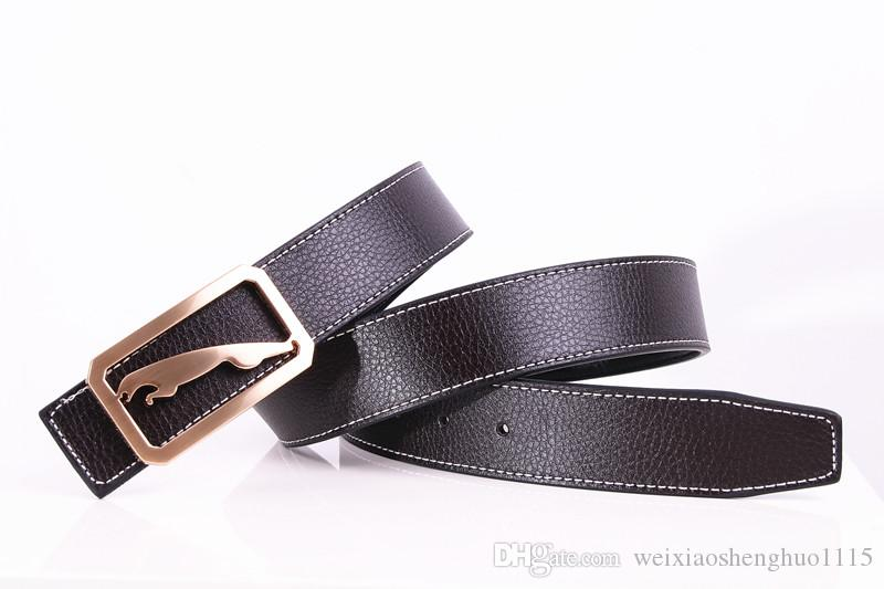 2017 new brand Jaguar designer men's belt fashion leather belt belts for menbelts for women gold men