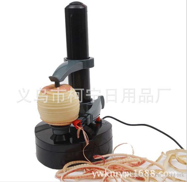 Çok İşlevli Elektrikli Meyve Elma Soyucu Patates Zesters Soyma Makinesi Güç adaptörü ile otomatik peelers zesters en iyi mutfak araçları