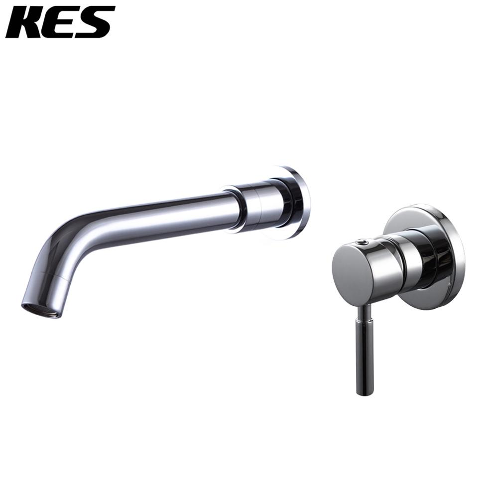 KES Wall Mount Bathroom Faucet Single Handle Lavatory Sink Faucet 1 ...