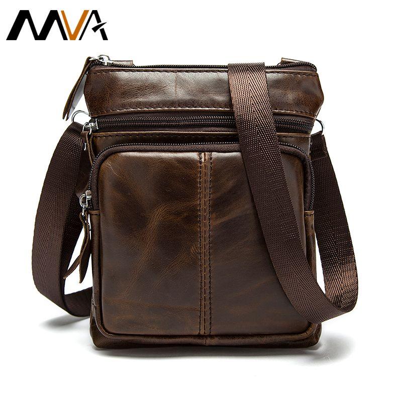Wholesale Men S Leather Bag Men Messeneger Bags Genuine Leather Men Bag  Brand Small Coin Purse Shoulder Crossbody Bag Causal Handbag MVA Handbags  For Sale ... fa79a3c3dbf73