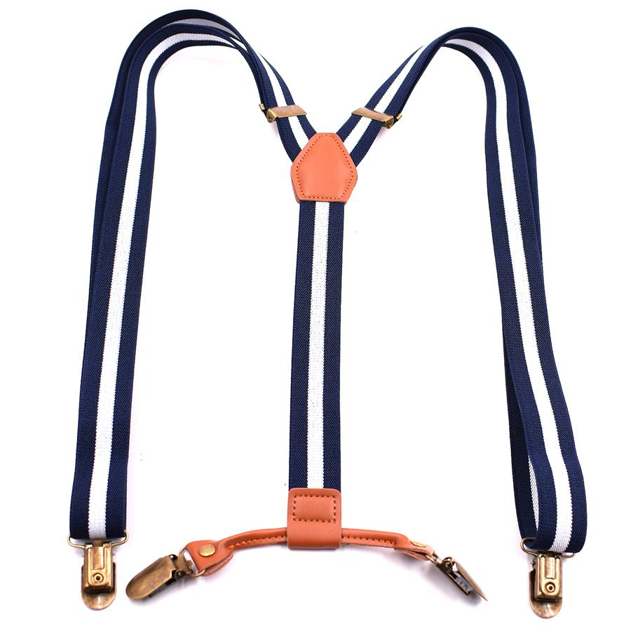 393b55be18d3c Fashion Suspenders 4 Clips Leather Braces Adult Suspensorio Tirantes ...