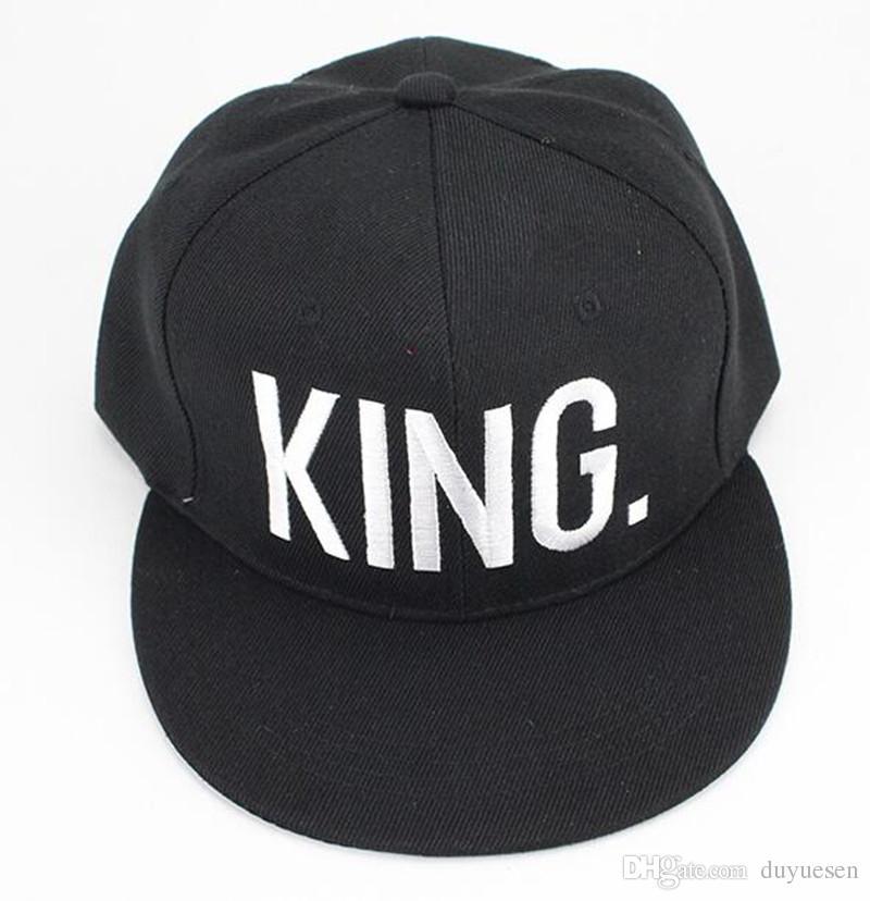 KingQueen Buchstaben zeigen liebevolle Paar Mütze Hut mit flacher Krempe Baseballmütze Männer und Frauen zeigen Persönlichkeit wilden Outdoor-Sport Mütze Visier