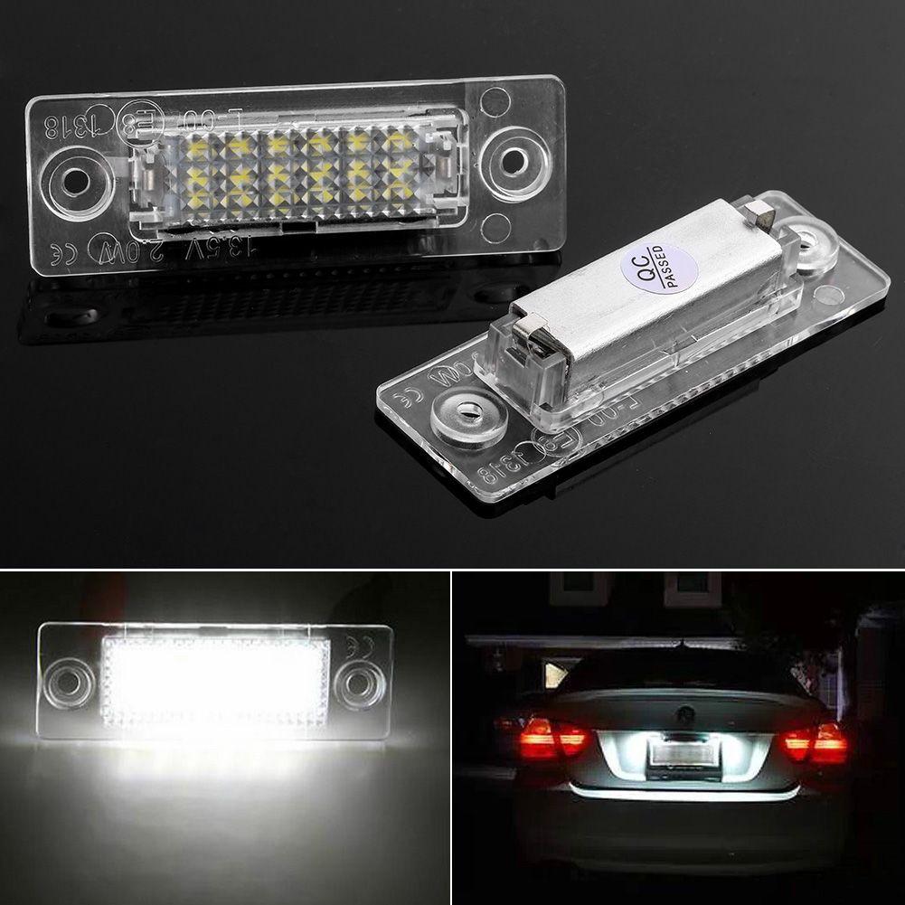 White LED License Plate Light Lamp 18leds Number Plate Light For VW JETTA SKODA T5 CADDY Golf Passat