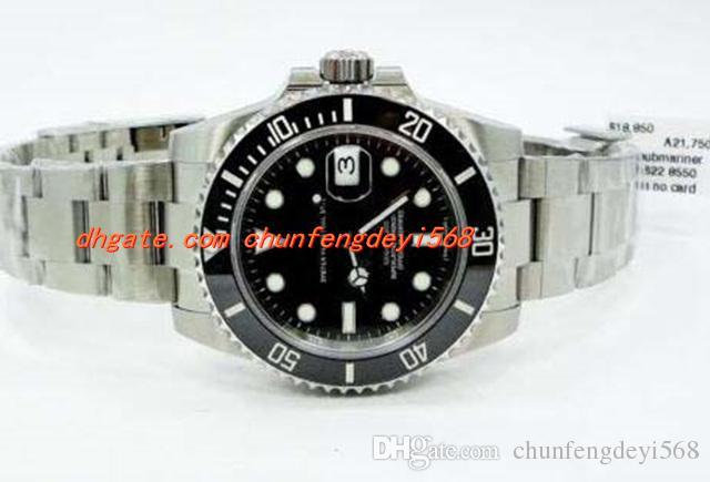 패션 럭셔리 손목 시계 116610 세라믹 Beze 스틸 시계 * MINT CONDITION 자동 Mens 시계 남자 시계 최고 품질