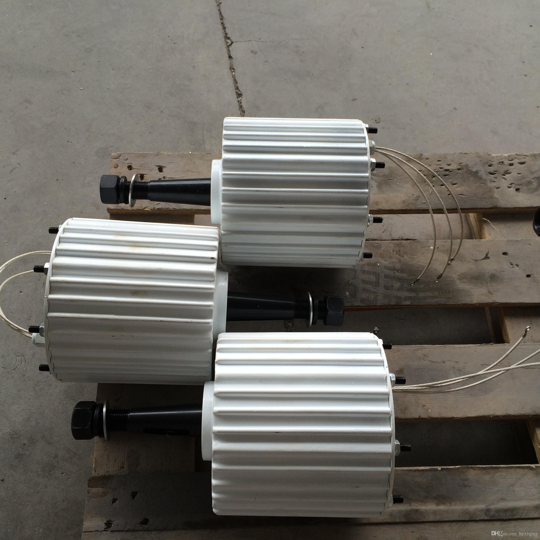 d8488c24353 Compre Gerador De Vento Do Motor Do Ímã Permanente De Baixa Velocidade De  1.5kw 48V   96V De Hexiqing