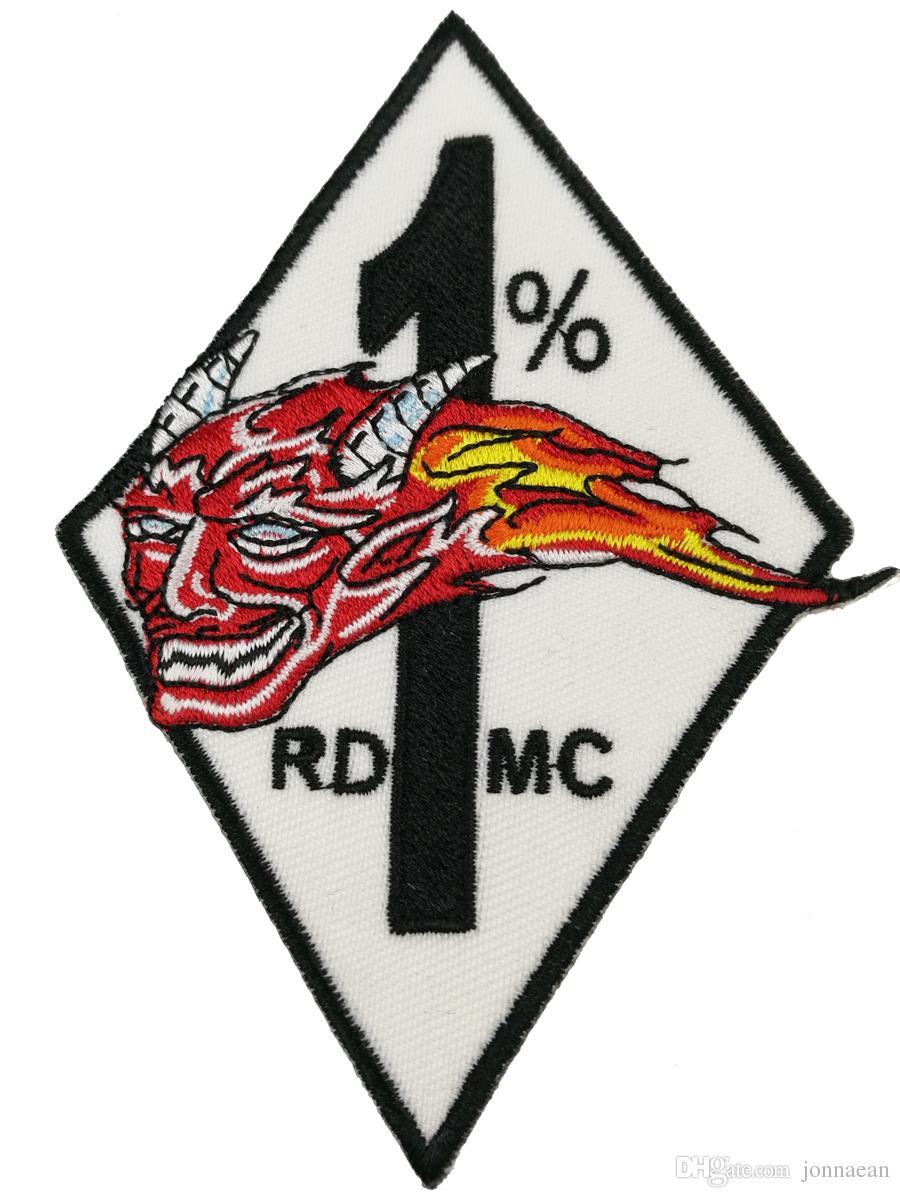 신품 도착 5 개 세트 / RED DEVILS EMBROIDERY BIKER PATCH 자켓 오토바이 용 대형 사이즈 40cm 와이드 패치 송료 무료