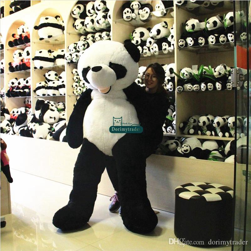 Dorimytrader dev peluş hayvan panda ayı cilt 180 cm Büyük Güzel Yumuşak büyük panda fabrika fiyat yüksek kalite DY61454