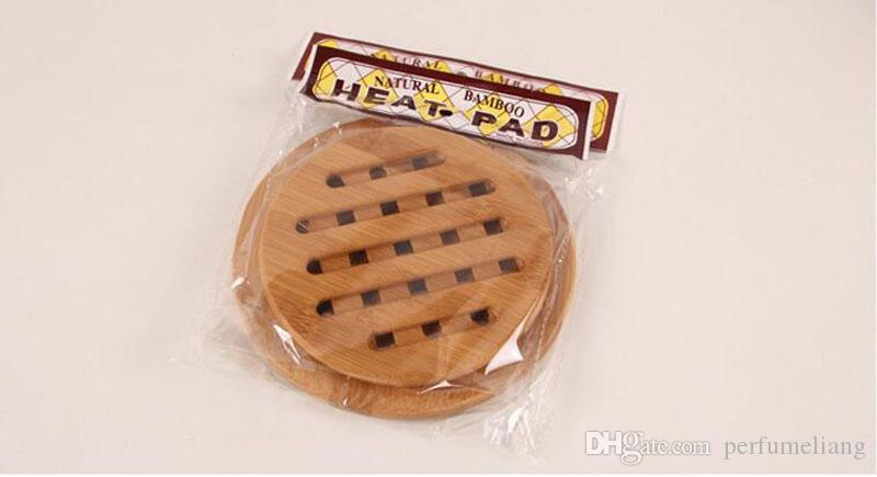 Bamboo Placemat Round Square Thickened Heat Pad Insulation Pads Anti - hot Kitchen Table Pan Bowl Cups Coaster Mats ZA3511