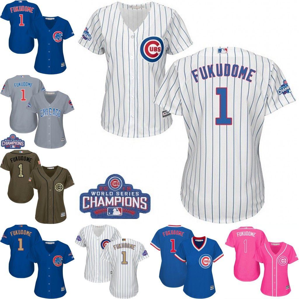2017 2017 women chicago cubs jersey 1 kosuke fukudome baseball throwbac coolbase coolbase jersey whi