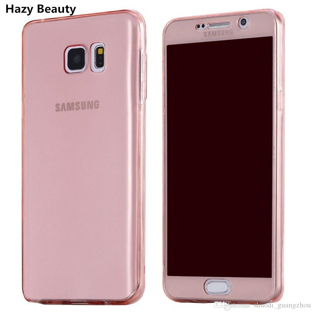 Hot Selling 360 Degree Full Body Case For Samsung Note 6 Note 7 J1 ACE J110 J100 Front Back Transparent Soft TPU Cover