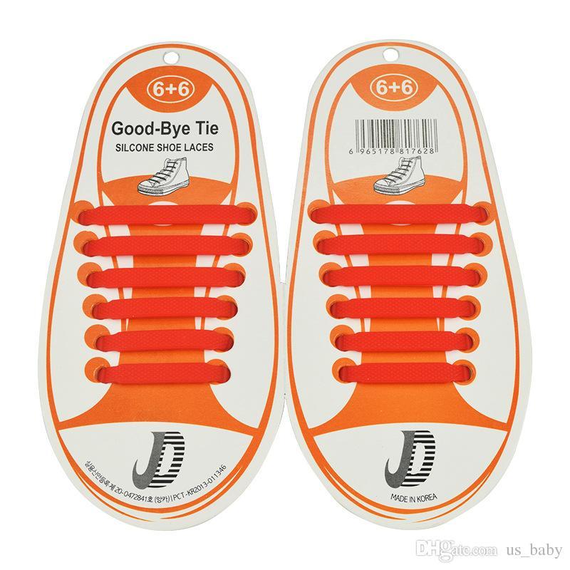 Enfants Aucun lacet Caoutchouc Élastique Lacet Enfants Sneaker Chaussure Lacets De Course Athlétique Lacets /