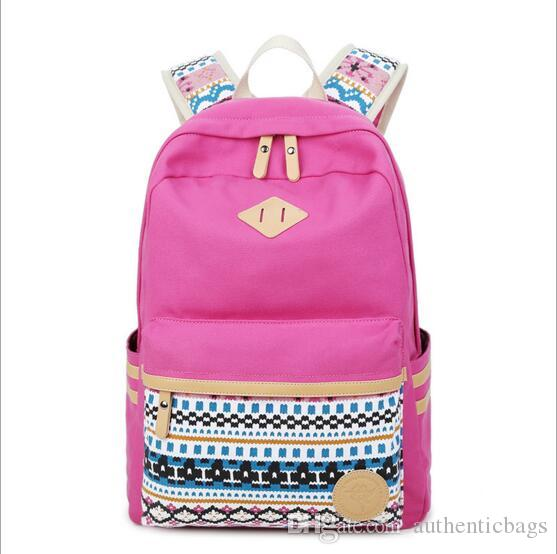 58894dda09 Simple Style Backpack Women Canvas Backpacks For Teenage Girls ...