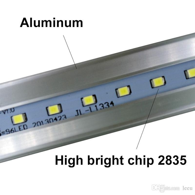 미국 + 4ft 1200mm T8 LED 튜브 라이트 높은 슈퍼 밝은 18W 20W 22W 따뜻한 콜드 화이트 LED 형광 전구 AC110-240V FCC