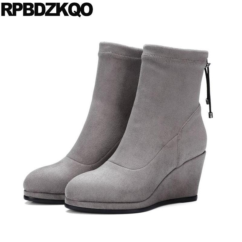 Zapatos de otoño de punta redonda casual para mujer tTCVbdJA