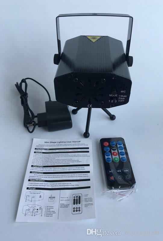 Heißer Verkauf IRC 150 mW RG Mini Laser Projektor Bühne Laserlicht Party Min Laserlicht Mit Fernbedienung Für Weihnachten Urlaub