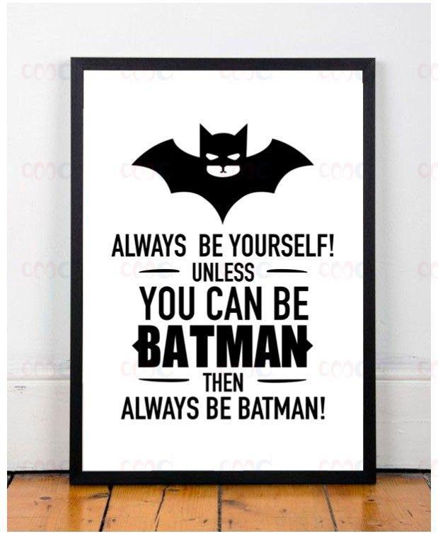 Batman Alıntı Canvas Sanat Baski Afİş Duvar Resimleri Ev Dekorasyon için siyah ve beyaz baskılar duvar dekor sanat Çerçeve dahil değil