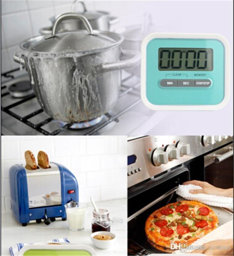 Cuisine Minuteur Numérique Aide de cuisine Mini Numérique LCD Cuisine Décompte Clip Alarme Minuterie Coloré Meow
