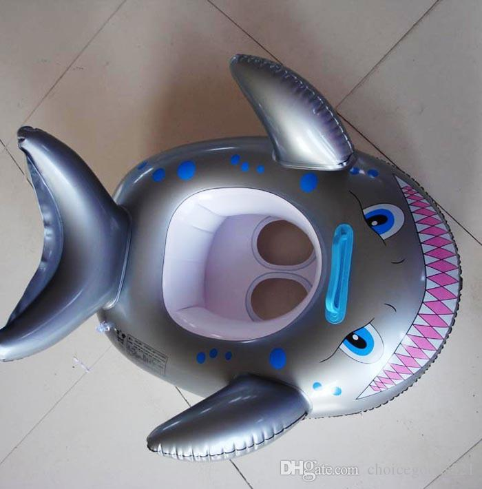 Cartoon Shark Swimming Ring Baby Kids Inflatable Life Buoy Swim Ring Toys Summer Water Pool Toy Essential for Beginners Swimming Ring